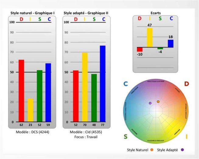 Le profil DISC en naturel et adapté